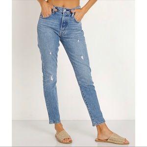 Womens Levi's 501 Skinny Stretch Denim Blue Jeans
